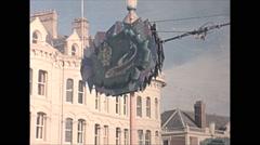 Vintage 16mm film, 1965, UK, Blackpool boardwalk Stock Footage