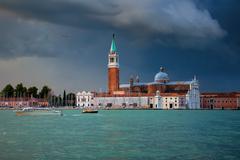 Atmospheric view of Venice, Italy Stock Photos