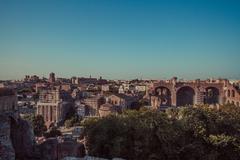 Roman Forum Ruins, Rome, Italy Stock Photos