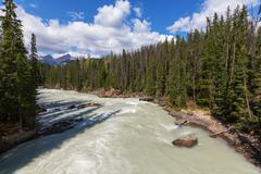 Athabasca river - stock photo