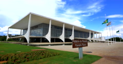 Palacio do Planalto (Planalto Palace) in Brasilia, Capital of Brazil Stock Footage
