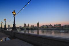 Westminster  at dawn, London, England, UK Stock Photos