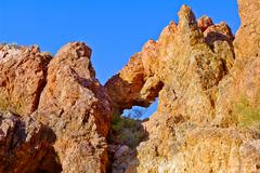 Belmont's Window, Belmont Mountain, Tonopah, Arizona, USA Stock Photos