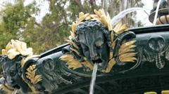 Baroque fountain in Baku, Azerbaijan Stock Footage