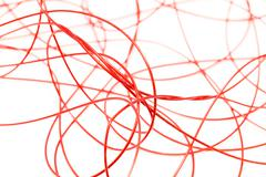 red wire on a white background - stock photo