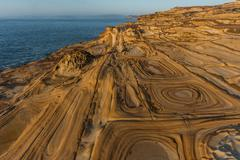 Sandstone Patterns, Bouddi National Park, New South Wales, Australia Stock Photos