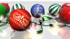 Christmas Ornaments and Lights Horizontal - stock footage