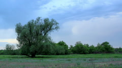 Movement of clouds on the river Chardym. Tarkhany village, Saratov region,  Stock Footage