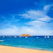 Tossa de Mar beach in Costa Brava of Catalonia - stock photo