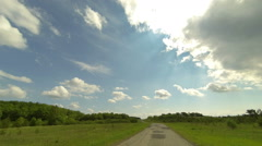 Stock Video Footage of Clouds over the road. The path from Terenga village, Ulyanovsk region, Russia,