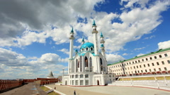 Movement of the clouds over the mosque Kul-Sharif. Kazan, Republic of Tatarstan, Stock Footage