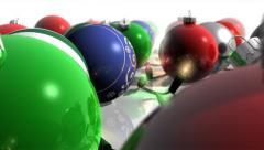 Christmas Ornaments and Lights Forward - stock footage