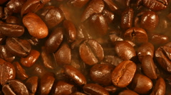 Roasted coffee closeup Stock Footage