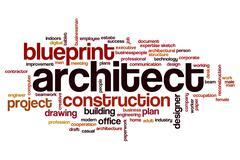 Architect word cloud concept Stock Illustration