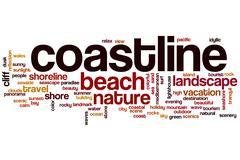 Coastline word cloud concept Stock Illustration