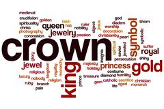 Crown word cloud concept Stock Illustration