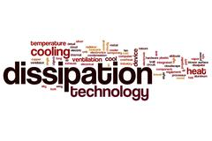 Dissipation word cloud concept - stock illustration
