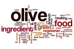 Olive word cloud concept - stock illustration