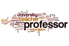 Professor word cloud concept Stock Illustration