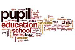 Pupil word cloud concept Stock Illustration