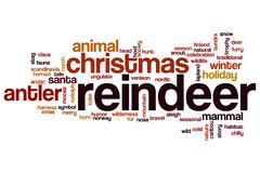 Reindeer word cloud concept Stock Illustration