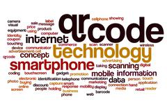 QR code word cloud concept Stock Illustration
