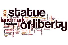 Statue of Liberty word cloud concept - stock illustration