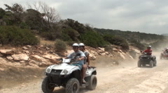Off road vehicle driving in the Cyprus Stock Footage