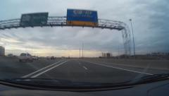 Driving South Highway 404 onto Highway 407 Stock Footage