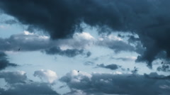 Swallows Flying In A Stormy Sky - stock footage