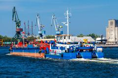 Gdansk. Tug Boat at the seaport - stock photo