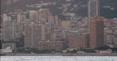 Monte-Carlo Monaco Skyline Sunset Time Lapse 4K Stock Footage