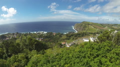 Picturesque view of South coast of Sao Miguel island, Azores, Portugal Stock Footage