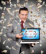Stock Photo of goods and money diagram