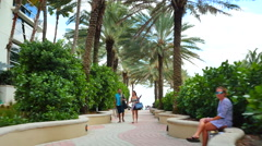 Beach path to the sand Stock Footage
