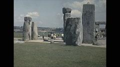 Vintage 16mm film, 1965, UK, stonehenge #1 Stock Footage