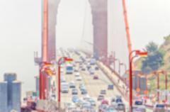 Defocused background of Golden Gate Bridge in San Francisco, USA - stock photo