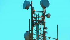 The tower with antennas of mobile phone communication, television, Internet - stock footage