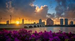 West Palm Beach Palm Beach County Florida Buidling Skyline Stock Footage
