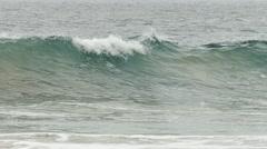 Slow motion of wave break Stock Footage