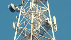 The tower with antennas of mobile phone communication, television, Internet Arkistovideo