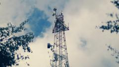 Stock Video Footage of The tower with antennas of mobile phone communication, television, Internet