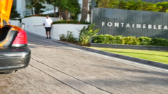 Taxis at the Fontainebleau Hotel Stock Footage