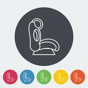 Child car seat flat icon Stock Illustration