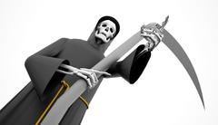 Grim Reaper rendered Stock Illustration