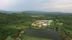 Aerial View At Buddha Phuttha Utthayan Makha Bucha Anusorn, Thailand Stock Footage