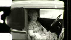 Grumpy Old Woman Angry Annoyed Model T Ford 1930s Vintage Film Home Movie 8864 - stock footage