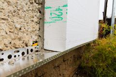 insulation facade polystyrene - stock photo