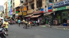 Halal markets in HCMC downtown in Vietnam Stock Footage