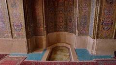 Nasir Al-Mulk Mosque decoration Stock Footage